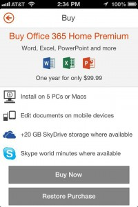 Microsoft-Office on the iPhone